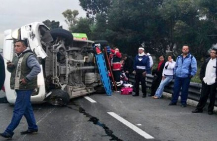 Accidente en el Circuito Exterior Mexiquense