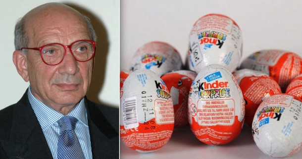 Falleció el creador del huevo Kinder William Salice
